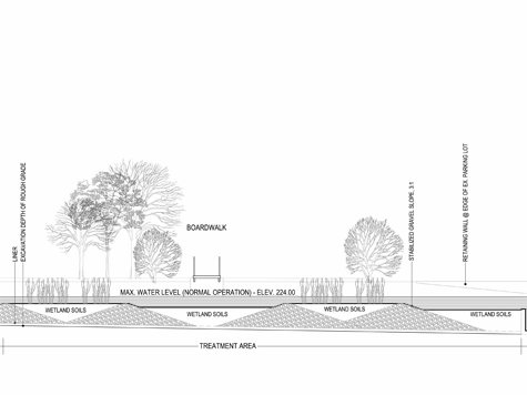 Section Illustration of Wetland Treatment Area
