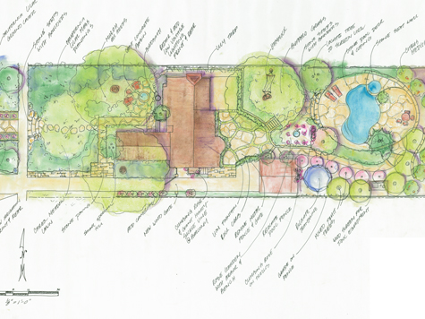 Plan Illustration of Residential Design